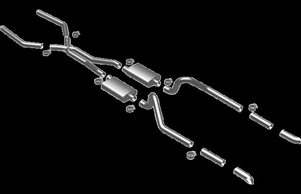 Magnaflow Schalldämpfer Anlage Ford Mustang 3,3 4,1 5,8 6,4 7,0 67-70