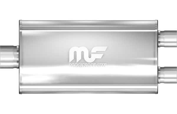 Magnaflow Universal Mittelschalldämpfer 76mm -> 2x 63,5mm